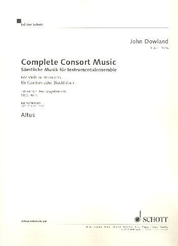 Complete Consort Music for 5 viols (recorders) 5 Streicher oder 5 Blockflöten (SATTB) und Basso cont