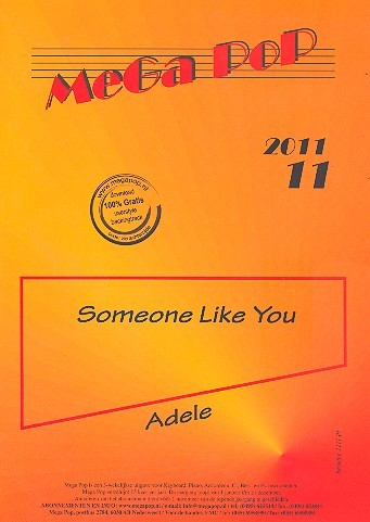 Someone like You: für Klavier (en) (mit Text und Akkorden)