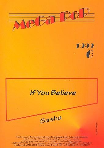 If You believe: für Klavier (Gesang/Gitarre)