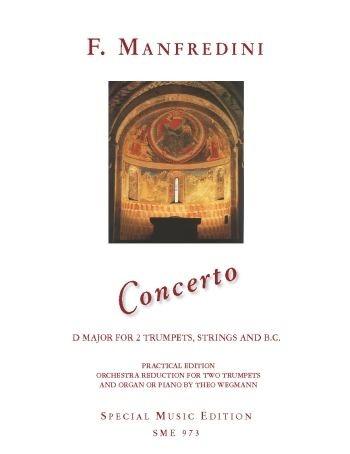 Konzert D-Dur für 2 Trompeten, Streicher und Bc für 2 Trompeten und Orgel (Klavier) Partitur und 2 S