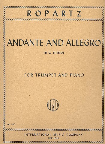 Andante and Allegro c minor for trumpet and piano