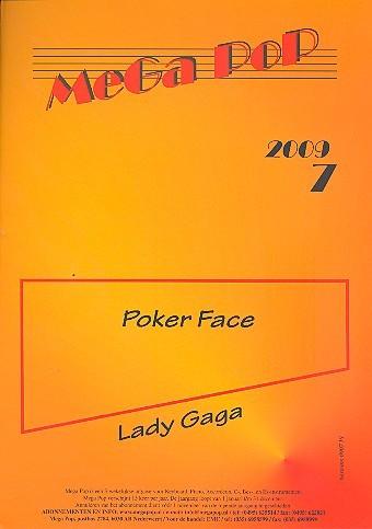 Poker Face: für Klavier (en) (mit Text und Gitarrenakkorden)