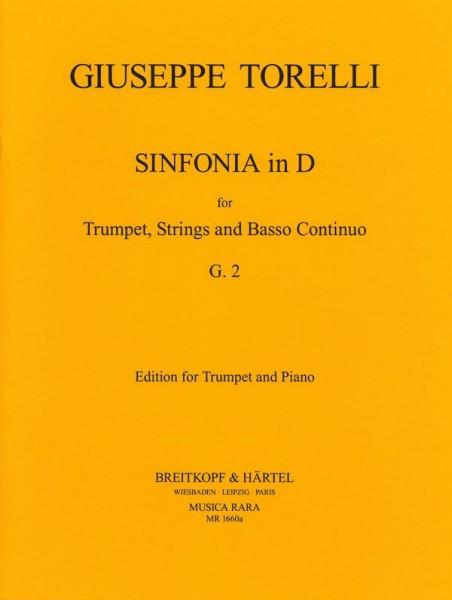 Sinfonia D-Dur G2 für Trompete, Streicher und Bc für Trompete und Klavier