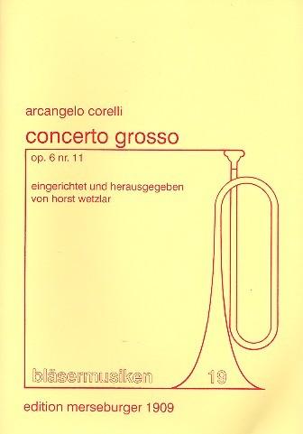 Concerto Grosso op.6,11 für 2 Trompeten, Horn, Posaune und Tuba Partitur
