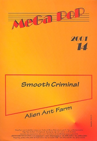 Smooth Criminal: Einzelausgabe für Klavier (mit Text)