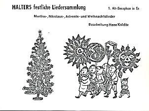 Halters festliche Liedersammlung für Blasorchester Altsaxophon 1