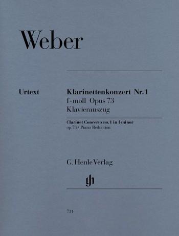 Konzert f-Moll Nr.1 op.73 für Klarinette und Orchester für Klarinette und Klavier