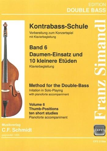 Schule Teil 2 Band 6 für Kontrabass und Klavier Klavierbegleitung