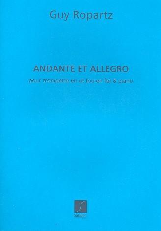 Andante et allegro pour trompette avec accompagnement de piano