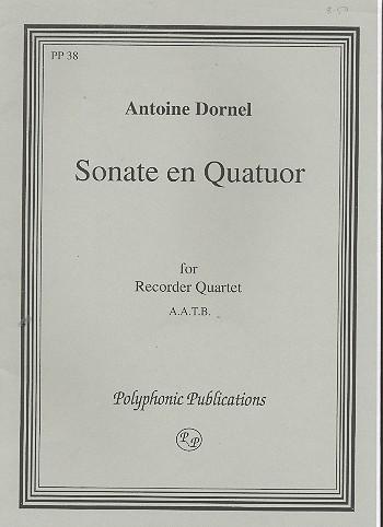 Sonate en quatuor for 4 recorders (AATB) score and parts