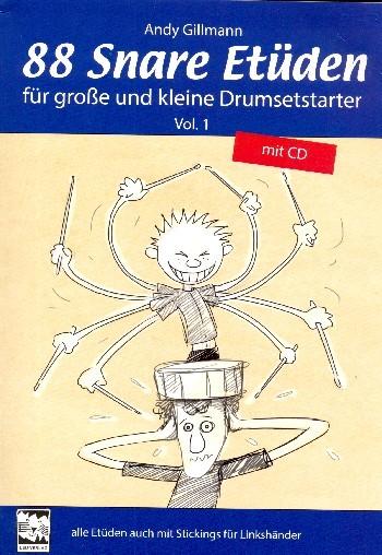 88 Snare Etüden Band 1 (+CD) für Snare Drum