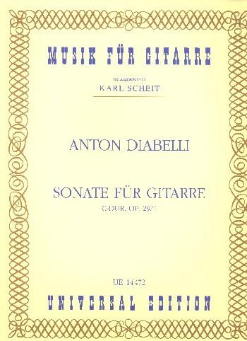 Sonate C-Dur op.29,1 für Gitarre