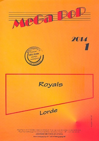 Royals: für Klavier (mit Text und Akkorden)