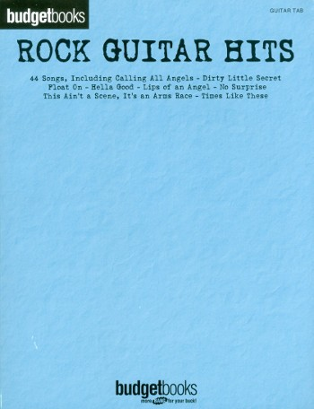 Budgetbooks Rock Guitar Hits Songbook piano/vocal/guitar