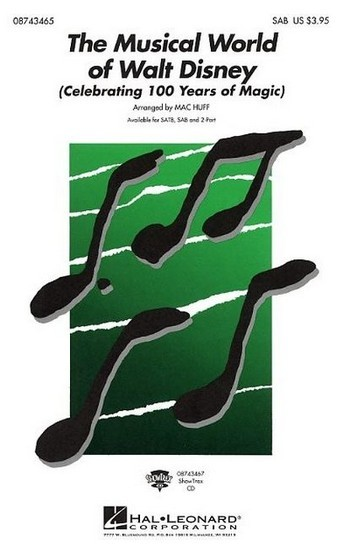 The Musical World of Walt Disney for mixed chorus (SAB) and piano, score
