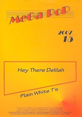 Hey there Delilah: für Klavier (Gesang/Gitarre) (en)