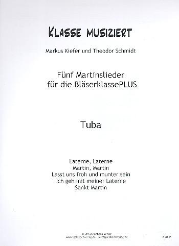 Martinslieder für die Bläserklasse PLUS Tuba