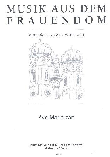 Ave Maria zart für gem Chor a cappella Partitur