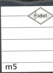 Fidolino Notenlinien-Rollstempel m5 5 Linien Abstand je 5mm
