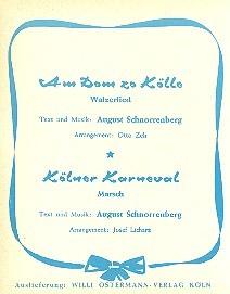 Am Dom zu Kölle und Kölner Karneval: für Blasorchester