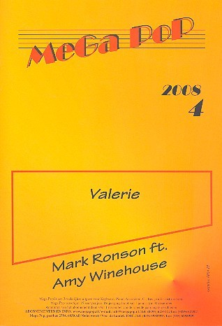 Valerie: für Klavier (en) (mit Text und Gitarrenakkorden)