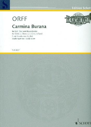 Carmina burana für Soli, Chor und Blasorchester Studienpartitur