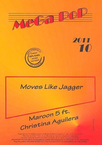 Moves like Jagger: für Klavier (en) (mit Text und Akkorden)