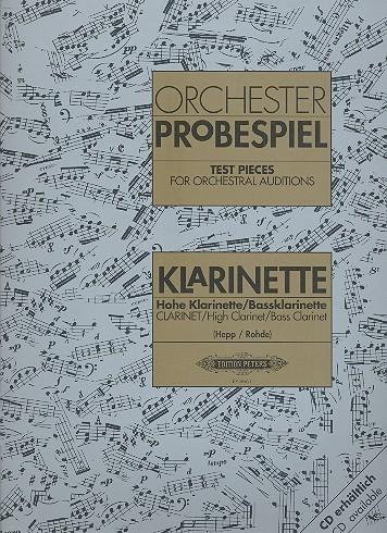 Orchester Probespiel für hohe Klarinette / Baßklarinette
