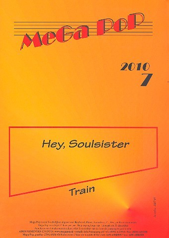 Hey Soulsister: für Klavier (Gesang/Gitarre) (en)