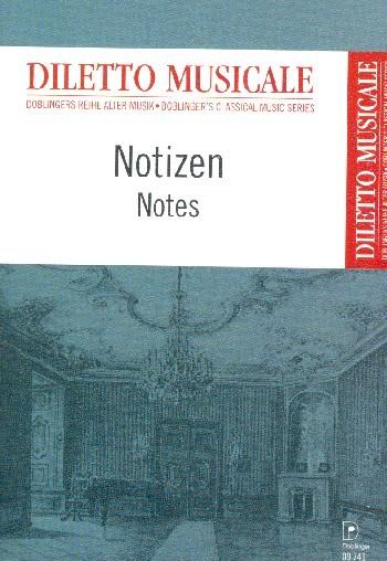 Notizheft Diletto musicale Din A6 hoch 8 Systeme