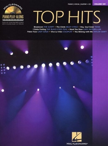 Top Hits (+CD): piano playalong vol.109 songbook piano/vocal/guitar