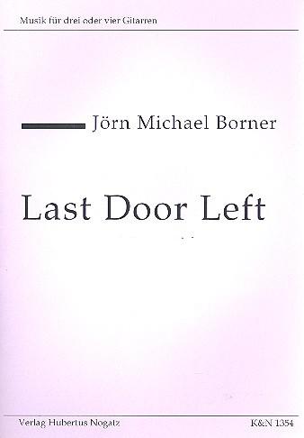 Last Door left für 4 Gitarren Partitur und Stimmen