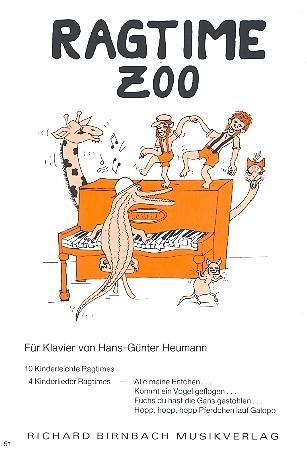 Ragtime Zoo: 10 kinderleichte Ragtimes, 4 Kinderlieder-Ragtimes für Klavier