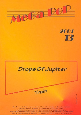 Drops of Jupiter: Einzelausgabe für Klavier (mit Text) train